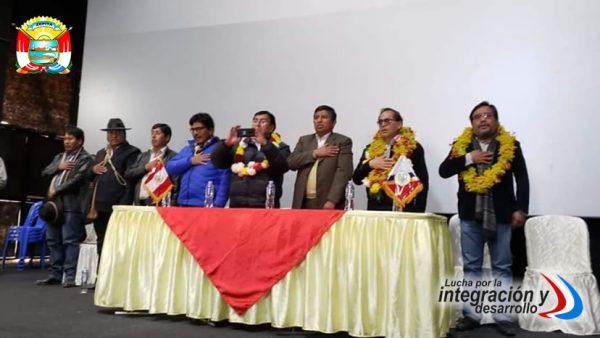 ALCALDE HUGO MIRANDA MONASTERIO PARTICIPÓ DEL II ENCUENTRO DE AUTORIDADES COMUNITARIAS EN DESAGUADERO