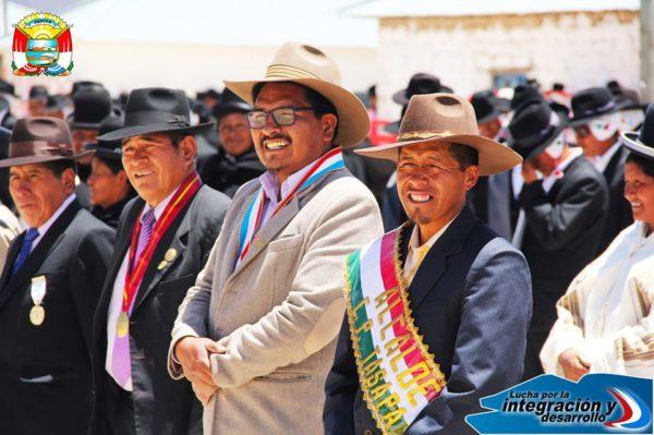 AUTORIDADES MULTISECTORIALES DE ZEPITA REALIZAN IZAMIENTO DEL PABELLÓN NACIONAL EN EL C.P. TASAPA PATACOLLO.