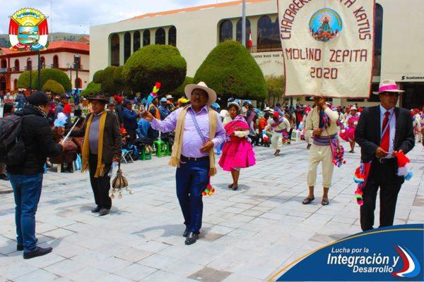 DANZANDO EN LA PARADA DE DANZAS AUTÓCTONAS DE LA FESTIVIDAD VIRGEN DE LA CANDELARIA 2020, EL CONJUNTO CHACAREROS JATHA KATUS MOLINO CAPIA ZEPITA.