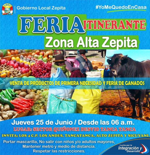 GRAN FERIA ITINERANTE DE LOS CENTROS POBLADOS DE ZONA ALTA ZEPITA