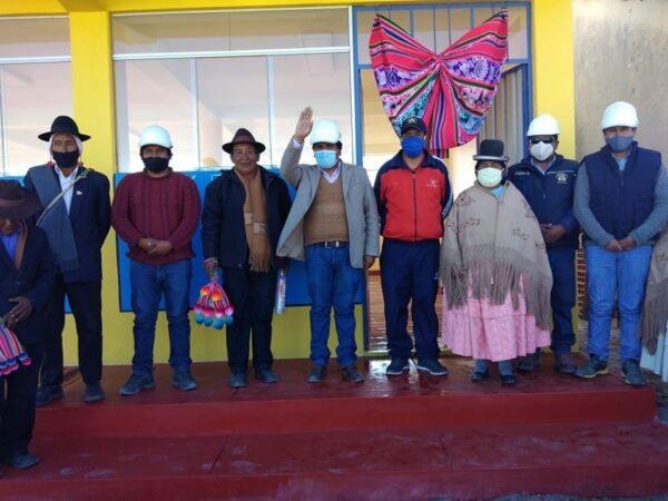 GOBIERNO LOCAL ZEPITA ENTREGÓ INFRAESTRUCTURA DE USOS MULTIPLES EN HUAÑACAYA C.P. SAN ANTONIO DE PAVITA.