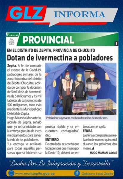 Gracias a los medios de comunicación de circulación regional por la difusión de las acciones