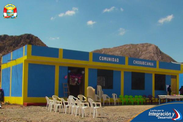 ENTREGAMOS OBRA DE INFRAESTRUCTURA ADMINISTRATIVA EN COM. CHOQUECAHUA.
