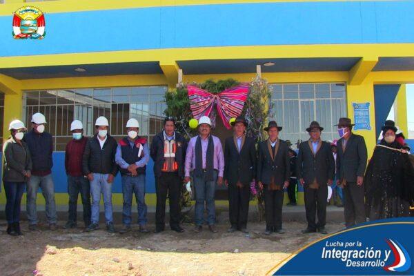 ENTREGAMOS LA CONSTRUCCIÓN DE AMBIENTE U OFICINA PARA PRESTACIÓN DE SERVICIOS PÚBLICOS EN LA COMUNIDAD DE ANCARUYO RIVA.