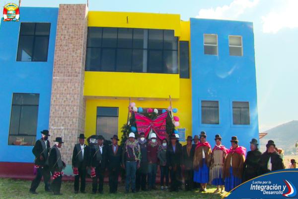 GOBIERNO LOCAL ZEPITA ENTREGA CREACIÓN DE INFRAESTRUCTURA ADMINISTRATIVA EN COMUNIDAD DE HUILACAYA.