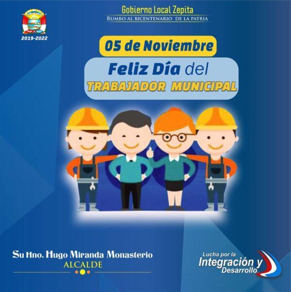 En el marco de la Celebración del Día del Trabajador Municipal deseo hacer llegar un saludo de reconocimiento a la planta de trabajadores