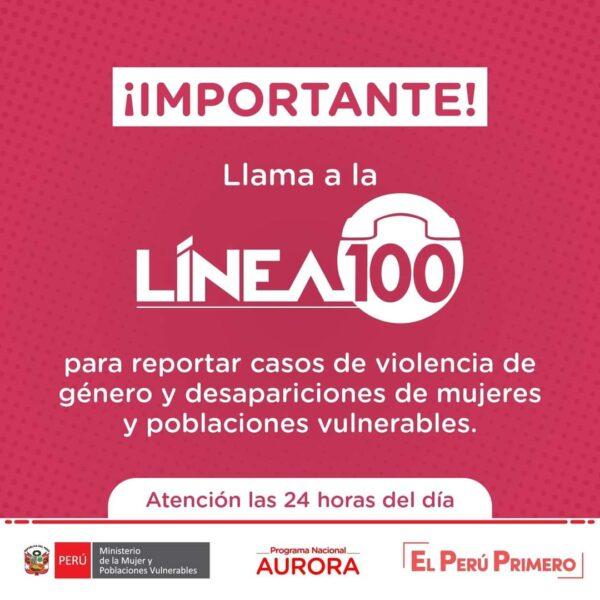 Si sabes de personas desaparecidas, llama a la Línea.100. Ante el reporte de personas desaparecidas y posibles casos de violencia