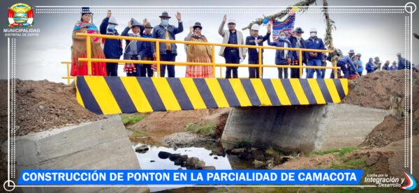 INAUGURACIÓN DE CONSTRUCCIÓN DE PONTÓN EN LA PARCIALIDAD DE CAMACOTA