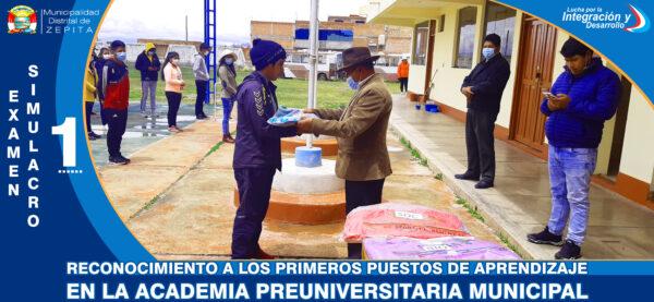 INCENTIVACION EN LA ACADEMIA PRE-UNIVERSITARIA MUNICIPAL ZEPITA