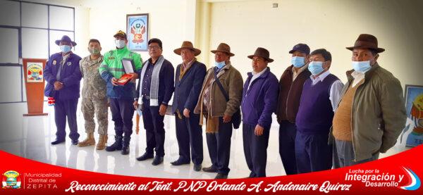 RECONOCIMIENTO AL TENT. PNP ORLANDO A. ANDONAIRE QUIROZ